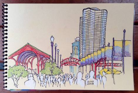 Danae Designs Plein Air Navy Pier Chicago