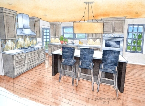 Kitchen Rendering 2 Danae Designs