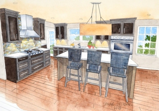 Kitchen Rendering Danae Designs