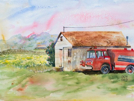 Danae Designs Chaumette Vineyards and Winery Ste Genevieve Plein Air Watercolor Best in Show
