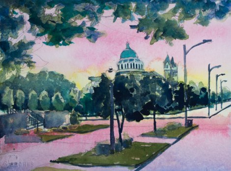 Danae Designs Plein Air Basilica Sunrise