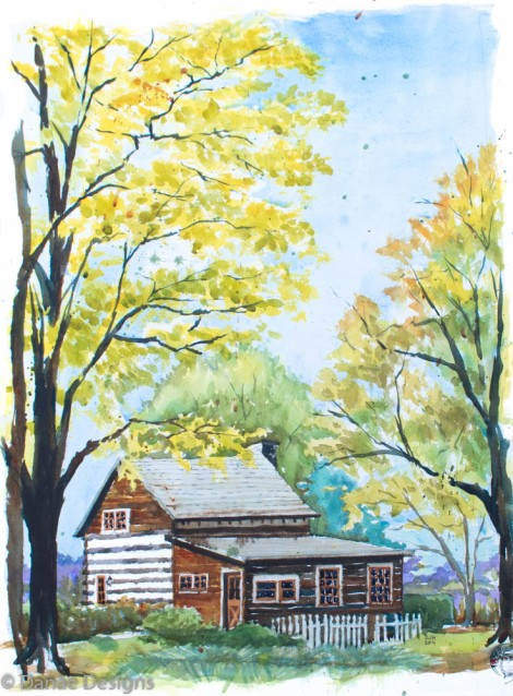 Danae Designs Plein Air Watercolor Impressions on Town and Country Saint Louis Missouri Peoples Choice Award