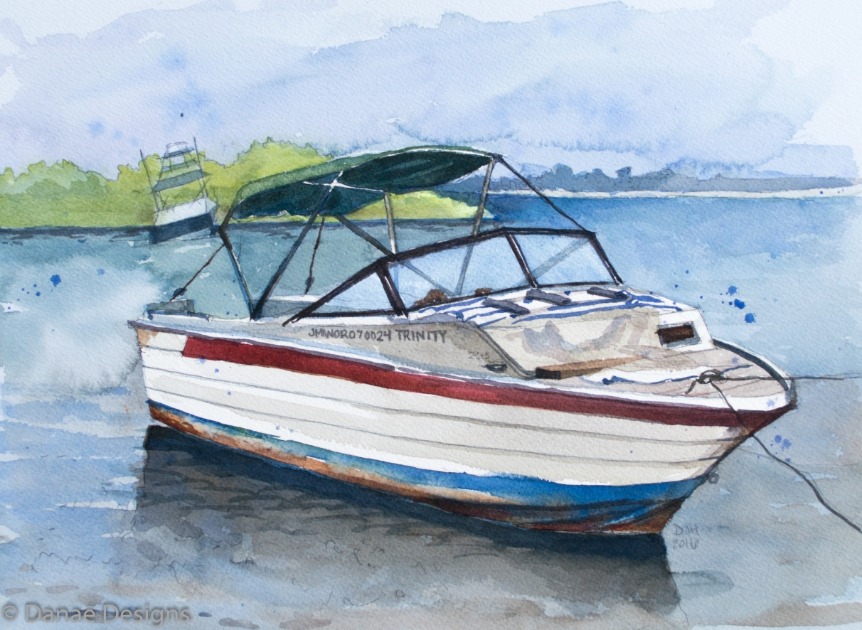 danae-designs-plein-air-watercolor-ocho-rios-jamaica-boat-harbor