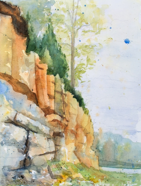 Danae Designs Watercolor Plein Air Augusta Shores Augusta Plein Air Art Festival