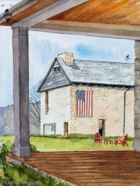 Danae Designs Watercolor Plein Air Bryans Mill Defiance Missouri 2015 Augusta Plein Air Art Festival