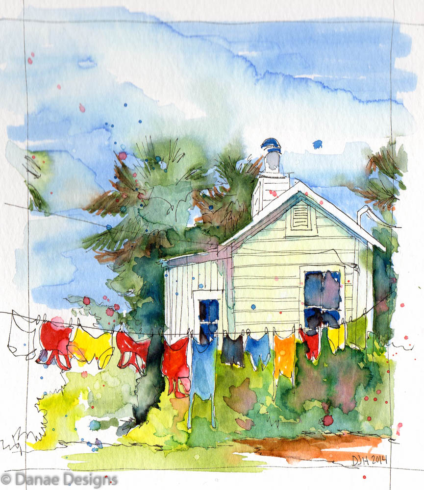 How To Paint House Portraits In Watercolor