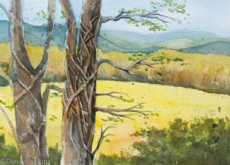 Danae Designs Watercolor Plein Air Noboleis Vineyars Augusta Plein Air Art Festival