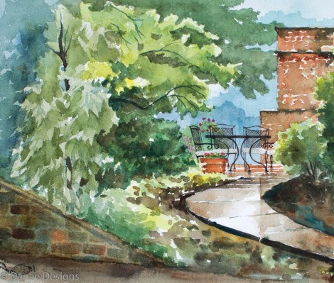 Danae Designs Watercolor Plein Air Websters Grove Paint Out 2015