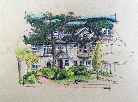 Danae Designs Plein Air Sketch Oak Knoll Park