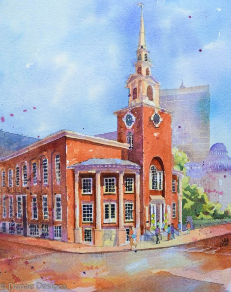 Danae Designs Park Street Church Boston, MA, Boston Common, Architectural Renderings
