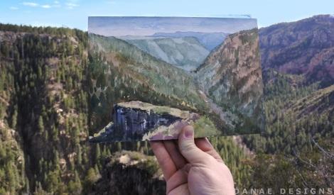 Danae Designs Watercolor 2018 Arizona Mountain View Scenic look out 1