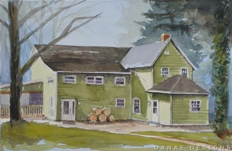 Danae Designs Watercolor 2018 Plein Air Augusta Festival Missouri Saint Louis Lake Creek Winery 1