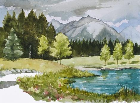 Danae Designs Watercolor Plein Air 2017 Banff Canada Canmore Painting Park.jpg