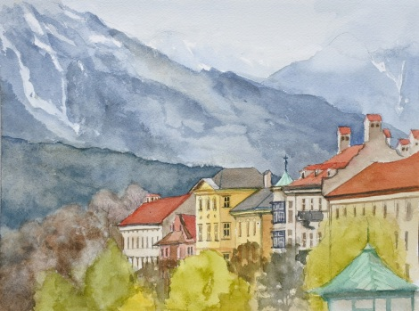 Danae Designs LLC Watercolor Plein Air Europe Innsbruck Austria
