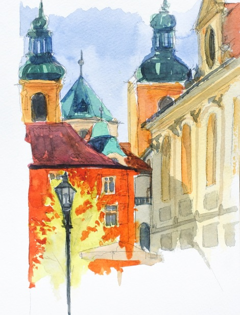 Danae Designs LLC Watercolor Plein Air Europe Prague